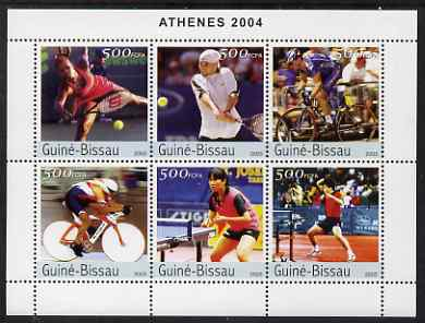 Guinea - Bissau 2003 Athens Olympic Games perf sheetlet containing 6 values unmounted mint Mi 2517-22