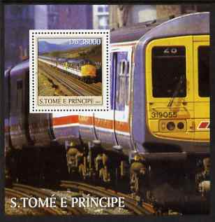 St Thomas & Prince Islands 2003 Railway Locomotives #2 perf s/sheet containing 1 value unmounted mint Mi BL466, Sc 1570
