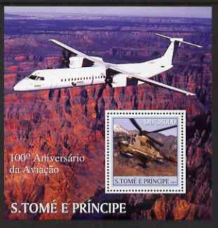 St Thomas & Prince Islands 2003 Centenary of Aviation perf s/sheet containing 1 value unmounted mint Mi BL452, Sc 1531