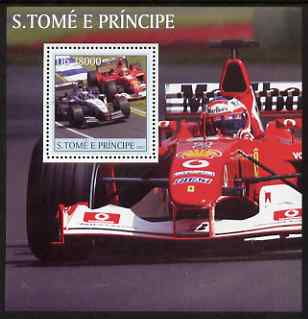 St Thomas & Prince Islands 2003 Formula 1 #1 perf s/sheet containing 1 value unmounted mint Mi BL460, Sc 1551