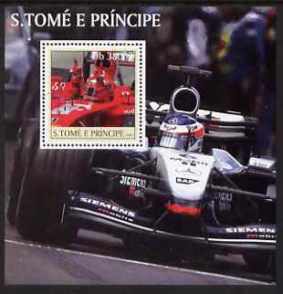 St Thomas & Prince Islands 2003 Formula 1 #2 perf s/sheet containing 1 value unmounted mint Mi BL459, Sc 1552