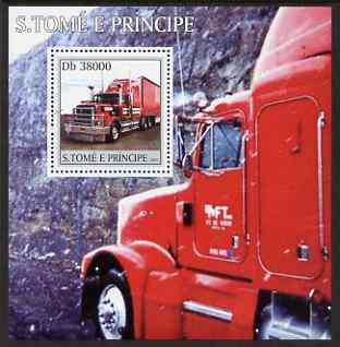 St Thomas & Prince Islands 2003 Trucks perf s/sheet containing 1 value unmounted mint Mi BL458, Sc 1542