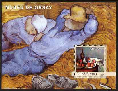 Guinea - Bissau 2003 The Orsay Museum perf s/sheet containing 1 value (Cezanne & Van Gogh) unmounted mint Mi BL409