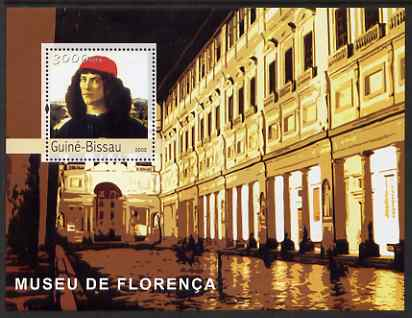 Guinea - Bissau 2003 The Florence Museum perf s/sheet containing 1 value (Botticelli) unmounted mint Mi BL407