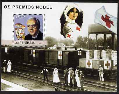Guinea - Bissau 2003 Nobel Prize Winners #2 perf s/sheet containing 1 value (Alexander Fleming) unmounted mint Mi BL398