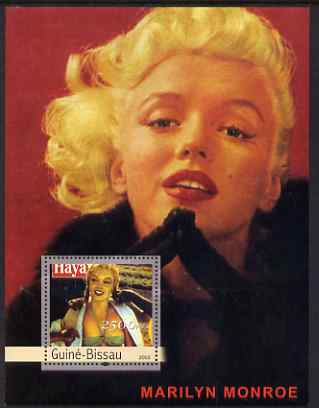 Guinea - Bissau 2003 Marilyn Monroe perf s/sheet containing 1 value unmounted mint Mi BL404