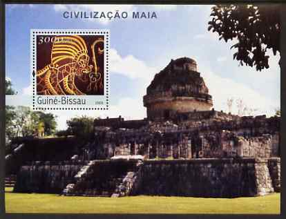 Guinea - Bissau 2003 The Maya Civilisation perf s/sheet containing 1 value unmounted mint Mi BL399