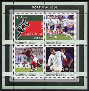 Guinea - Bissau 2003 Euro 2004 Football Championship perf sheetlet containing 4 values unmounted mint Mi 2082-85