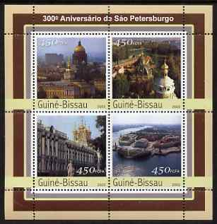 Guinea - Bissau 2003 300th Anniversary of St Petersberg #1 perf sheetlet containing 4 values unmounted mint Mi 2112-15