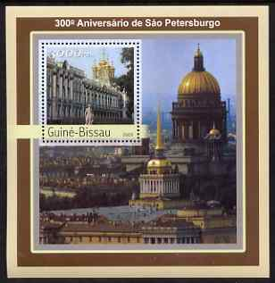 Guinea - Bissau 2003 300th Anniversary of St Petersberg #1 perf s/sheet containing 1 value unmounted mint Mi BL395