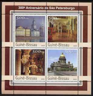 Guinea - Bissau 2003 300th Anniversary of St Petersberg #2 perf sheetlet containing 4 values unmounted mint Mi 2116-19
