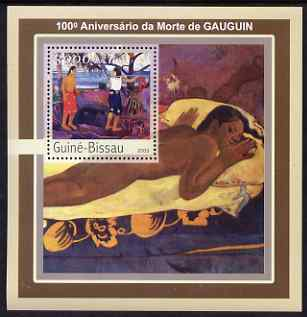Guinea - Bissau 2003 Death Centenary of Gauguin perf s/sheet containing 1 value unmounted mint Mi BL391, stamps on personalities, stamps on arts, stamps on gauguin