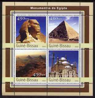Guinea - Bissau 2003 Monuments of Egypt #1 perf sheetlet containing 4 values unmounted mint Mi 2122-25