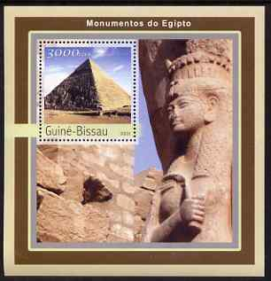 Guinea - Bissau 2003 Monuments of Egypt #1 perf s/sheet containing 1 value unmounted mint Mi BL395