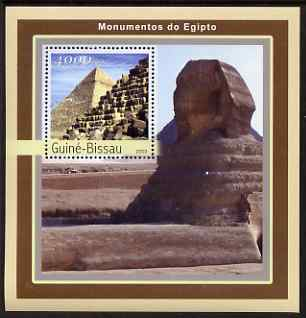 Guinea - Bissau 2003 Monuments of Egypt #2 perf s/sheet containing 1 value unmounted mint Mi BL396