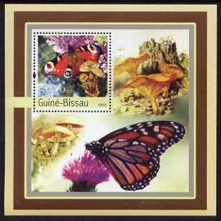 Guinea - Bissau 2003 Butterflies & Fungi perf s/sheet containing 1 value unmounted mint Mi BL389