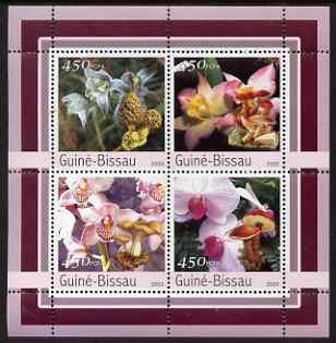 Guinea - Bissau 2003 Orchids & Fungi perf sheetlet containing 4 values unmounted mint Mi 2087-90
