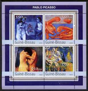 Guinea - Bissau 2003 Nude Paintings by Picasso perf sheetlet containing 4 values unmounted mint Mi 2105-08