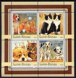 Guinea - Bissau 2003 Cats & Dogs perf sheetlet containing 4 values unmounted mint Mi 2148-51