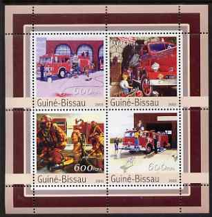 Guinea - Bissau 2003 Fire Engines perf sheetlet containing 4 values unmounted mint Mi 2164-67