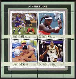 Guinea - Bissau 2003 Athens Olympic Games perf sheetlet containing 4 values unmounted mint Mi 2064-67