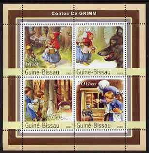 Guinea - Bissau 2003 Grimm Fairy Tales perf sheetlet containing 4 values unmounted mint Mi 2136-39