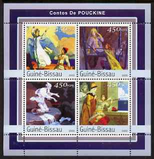 Guinea - Bissau 2003 Tales by Pushkin perf sheetlet containing 4 values unmounted mint Mi 2132-35