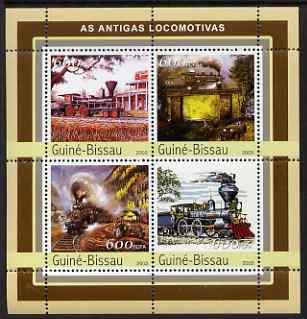 Guinea - Bissau 2003 Steam Locomotives #2 perf sheetlet containing 4 values unmounted mint Mi 2144-47