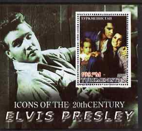 Turkmenistan 2001 Icons of the 20th Century - Elvis Presley perf s/sheet #1 fine cto used