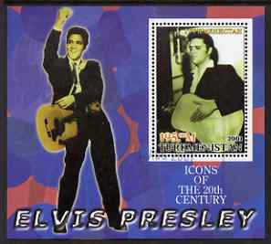 Turkmenistan 2001 Icons of the 20th Century - Elvis Presley perf s/sheet #2 fine cto used