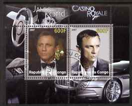 Congo 2007 James Bond - Casino Royale perf s/sheet #1 fine cto used