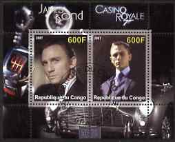 Congo 2007 James Bond - Casino Royale perf s/sheet #2 fine cto used