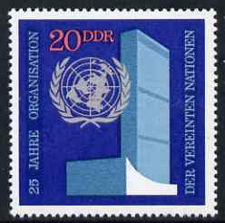 Germany - East 1970 25th Anniversary of United Nations 20pf unmounted mint, SG E1342