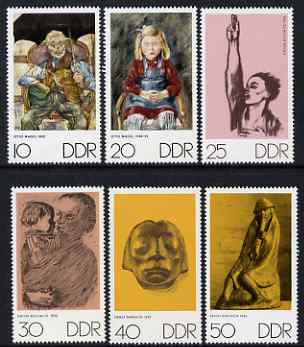 Germany - East 1970 The Art of Otto Nagel, Kathe Kolwitz & Ernst Barlach perf set of 6 unmounted mint, SG E1328-33