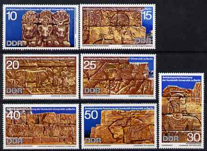Germany - East 1970 Sudanese Archaeological Excavations perf set of 7 unmounted mint, SG E1300-06