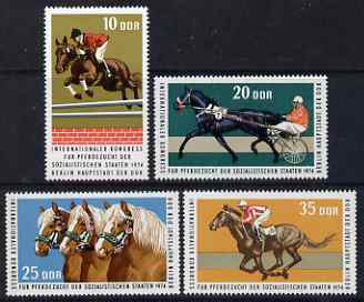 Germany - East 1974 International Horse-Breeders Congress perf set of 4 values unmounted mint, SG E1685-88