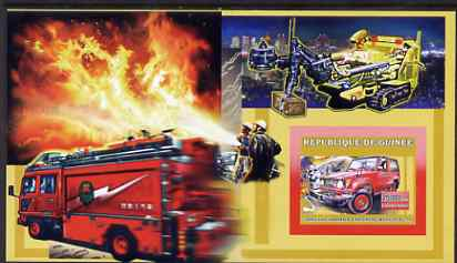Guinea - Conakry 2006 Japanese Fire Engines large imperf s/sheet containing 1 value (BJ-73) unmounted mint