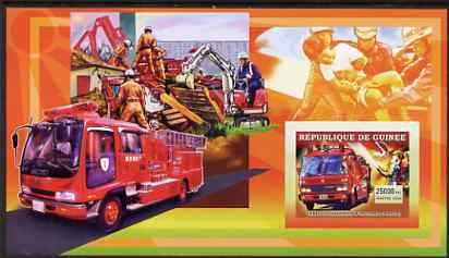 Guinea - Conakry 2006 Japanese Fire Engines large imperf s/sheet containing 1 value (Tokyo) unmounted mint