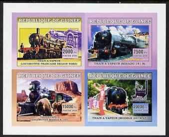 Guinea - Conakry 2006 Steam Trains imperf sheetlet containing 4 values unmounted mint