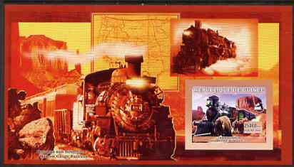 Guinea - Conakry 2006 Steam Trains - Modele No. 107 large imperf s/sheet containing 1 value unmounted mint