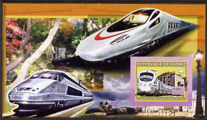 Guinea - Conakry 2006 High Speed Trains large imperf s/sheet containing 1 value (German Ice Train) unmounted mint