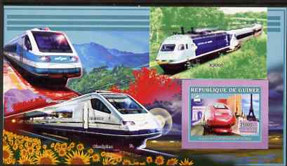 Guinea - Conakry 2006 High Speed Trains large imperf s/sheet containing 1 value (TGV) unmounted mint