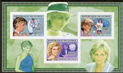 Guinea - Conakry 2006 Princess Diana imperf sheetlet #3 containing 3 values unmounted mint Yv 2715-17