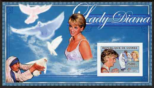 Guinea - Conakry 2006 Princess Diana imperf s/sheet #07 containing 1 value (with Mother Teresa) unmounted mint Yv 349