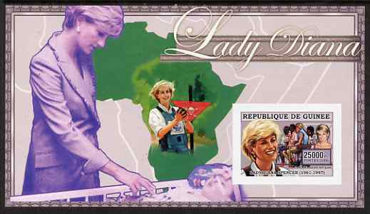 Guinea - Conakry 2006 Princess Diana imperf s/sheet #10 containing 1 value (Land Mine Campaign) unmounted mint Yv 352