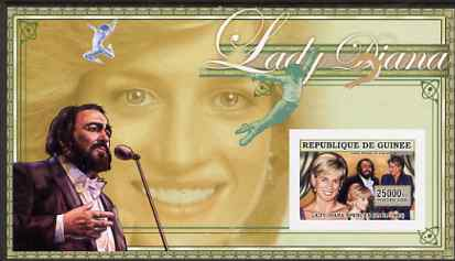 Guinea - Conakry 2006 Princess Diana imperf s/sheet #12 containing 1 value (with Pavarotti) unmounted mint Yv 354