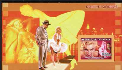 Guinea - Conakry 2006 Marilyn Monroe imperf s/sheet #5 containing 1 value (Seven Year Itch) unmounted mint Yv 359