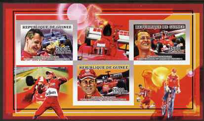 Guinea - Conakry 2006 Michael Schumacher - F1 Champion imperf sheetlet containing 3 values unmounted mint Yv 2733-35