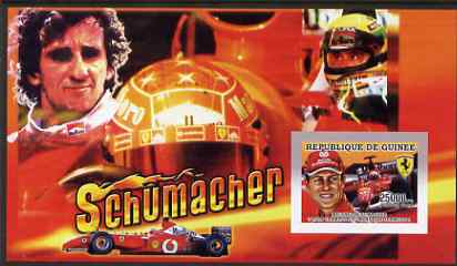Guinea - Conakry 2006 Michael Schumacher - F1 Champion imperf s/sheet #1 containing 1 value (Alain Prost) unmounted mint Yv 367