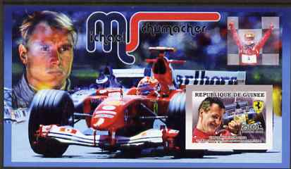 Guinea - Conakry 2006 Michael Schumacher - F1 Champion imperf s/sheet #2 containing 1 value (Mika Hakkinen) unmounted mint Yv 368